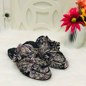 A New Day Floral Mules NWOT